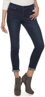 Juicy Couture Women's Flaunt It Midrise Cuffed Skinny Ankle Jeans