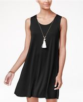 Ultra Flirt Juniors' Strappy-Back Necklace Dress