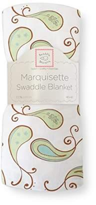 Swaddle Designs Marquisette Swaddling Blanket, Premium Cotton Muslin, Triplets Paisley, Kiwi