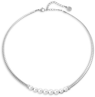 Majorica 6-7MM Organic White Pearl Choker Necklace