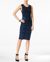 Bar III Intarsia-Knit Bodycon Dress, Only at Macy's