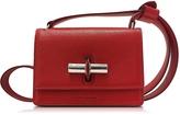 Jil Sander Lock Open Red Leather Small Shoulder Bag
