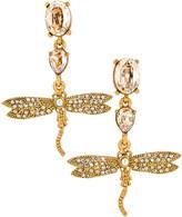 Oscar de la Renta Dragonfly Drop Earrings in Cry Gold Shadow | FWRD