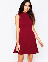 Club L High Neck Skater Dress
