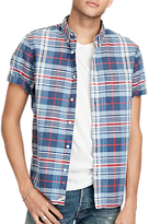 Denim & Supply Ralph Lauren Short Sleeve Pocket Shirt, Blue Red Plaid