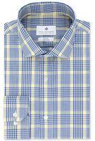 Ryan Seacrest Distinction Men's Slim-Fit Non-Iron Navy Plaid Dress Shirt, Only at Macy's