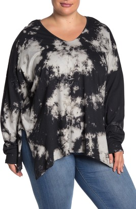 Modern Designer Tie Dye Long Sleeve T-Shirt (Plus Size)