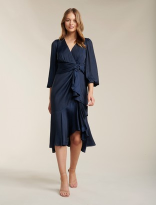 Ever New Lilian Balloon Sleeve Midi Dress