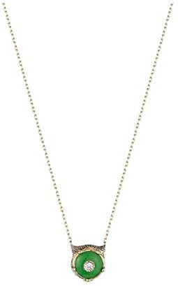 Gucci Le Marche Des Merveilles Necklace (Green Jade/Gold) Necklace