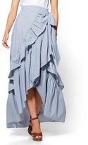 New York & Co. Hi-Lo Ruffled Wrap Skirt