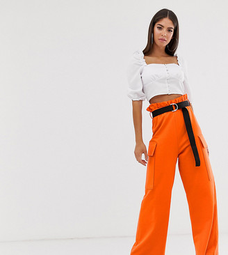 Asos Tall ASOS DESIGN Tall utility culotte with pockets and webbing belt