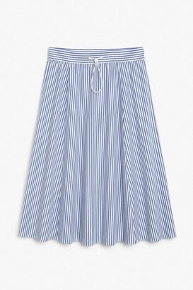 Monki Cotton drawstring midi-skirt