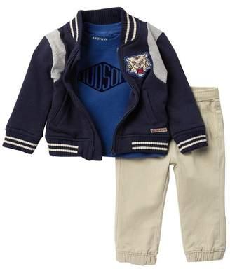 Hudson Jeans Fleece Jacket, T-Shirt, & Pants Set (Baby Boys)