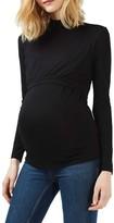 Topshop Women's Mock Neck Nursing/maternity Top