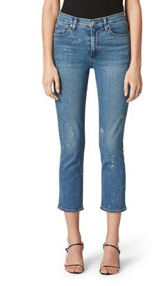 Hudson Barbara High Waist Crop Straight Leg Jeans