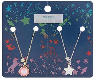 Monsoon Galaxy Tear & Share Necklace Set