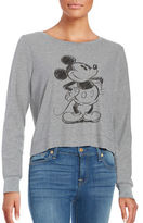 David Lerner Mickey Mouse Cropped Sweater