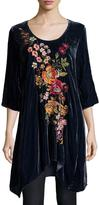 Johnny Was Michelle Embroidered Velvet Tunic, Plus Size