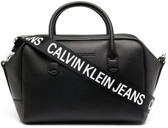 Calvin Klein Jeans Logo-Print Strap Tote Bag