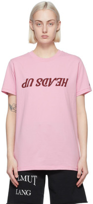 Helmut Lang Pink Saintwoods Edition Heads Up T-Shirt