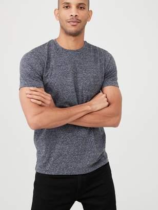 Very Textured Smart T-Shirt - Navy