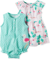 Carter's 2-Pc. Cotton Flamingo Romper & Flamingo-Print Dress Set, Baby Girls (0-24 months)