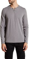 Kenneth Cole New York Two Button Long Sleeve Henley Shirt