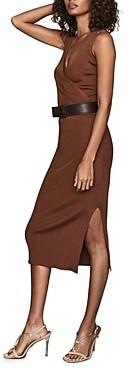 Reiss Katy Ribbed Knit Midi Dress