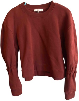 Tibi Burgundy Cotton Knitwear