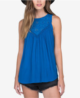 Volcom Juniors' Sunset Path Eyelet-Inset Tank Top