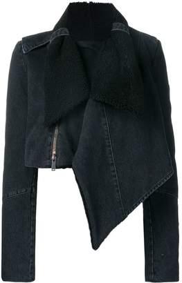 Unravel Project draped denim jacket