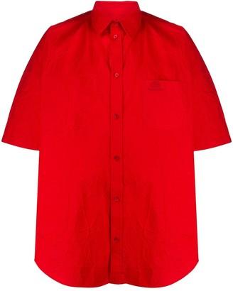 Balenciaga short sleeve Cocoon shirt