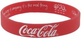 Peace Love World Coca-Cola I am Love Red Silicone Bracelet