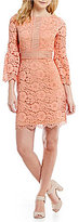 Vince Camuto Bell Sleeve Lace Shift Dress