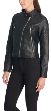 Levi's Faux Leather Quilted Racer Jacket