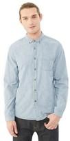 Alternative Industry Railroad Stripe Chambray Shirt