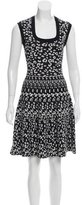 Rebecca Taylor Leopard Print Fit and Flare Dress
