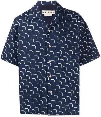 Marni Abstract-Print Short Sleeve Shirt