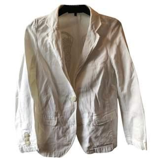 Berenice White Cotton Jacket for Women