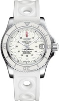 Breitling Superocean II automatic 36mm white dial black strap watch
