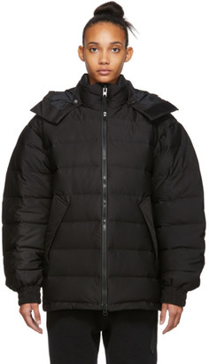 Y-3 Black Down Seamless Hooded Jacket