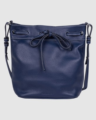 The Horse - Women's Navy Leather bags - The Bucket Bag - Size One Size at The Iconic