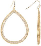 Rivka Friedman 18K Gold Clad Pave Simulated Diamond Open Teardrop Dangle Earrings