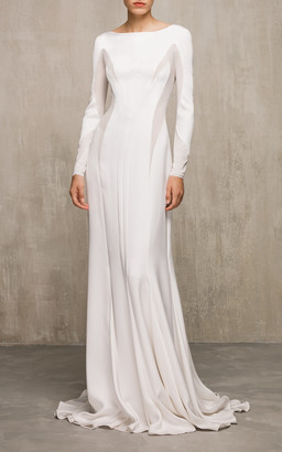 Edem Bridal Azalea Long Sleeve Silk Gown