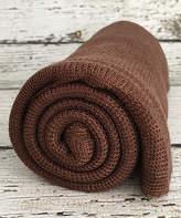 Brown Waffle Knit Stretch Wrap