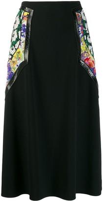 Stella McCartney floral panel midi skirt
