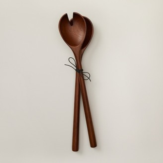 Oui Long Salad Servers Walnut Set Of 2