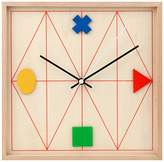 Kikkerland Design Geometric Wood Clock