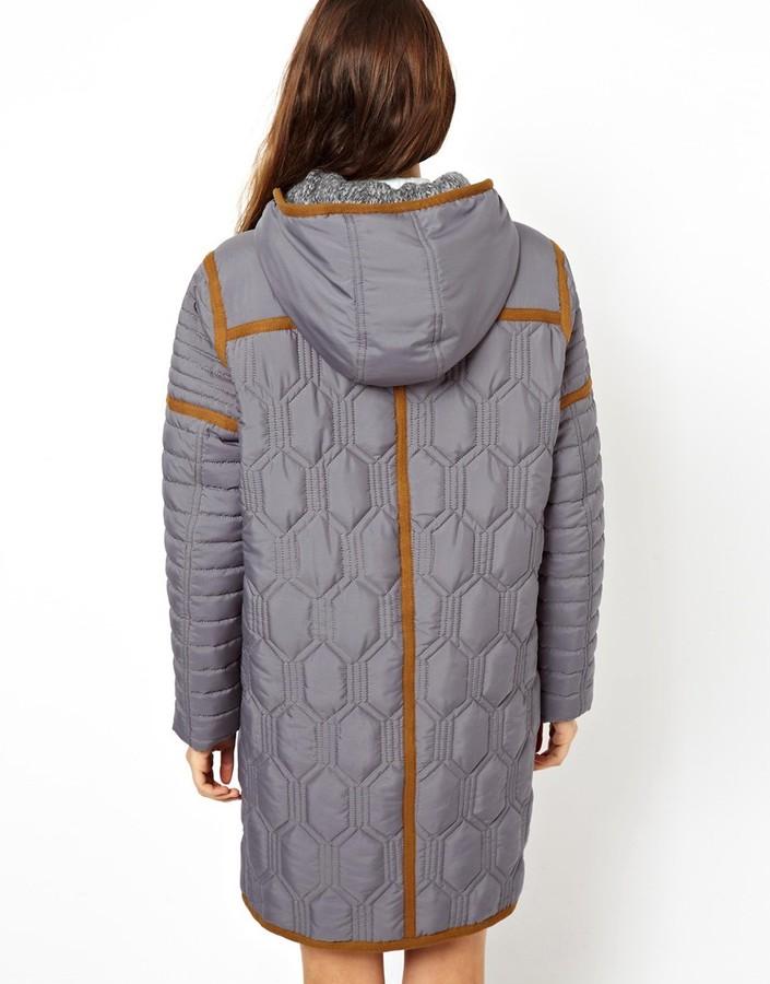 Asos Coat in All Over Quilt