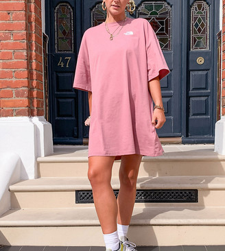 The North Face T-shirt dress in pink Exclusive at ASOS